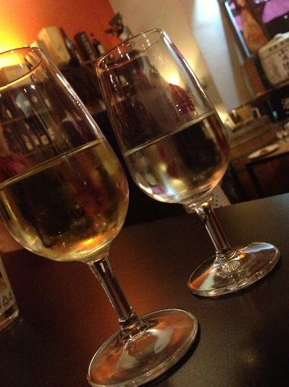 日本酒もワイングラスで。日本酒とイタリアンのマリアージュの夕べ。