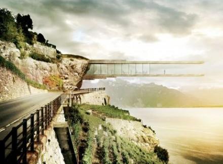 一目惚れ♥♥♥ レマン湖の上を空中散歩できるワイン博物館プロジェクト。