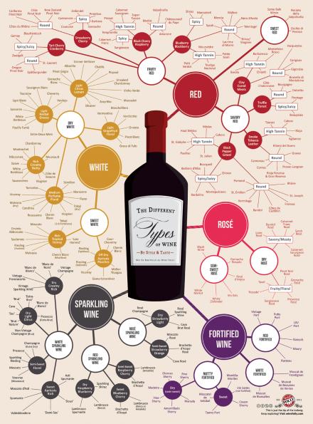 自分の好きなワインのタイプが一目瞭然のワインマップ。さて私のポジションは・・・。