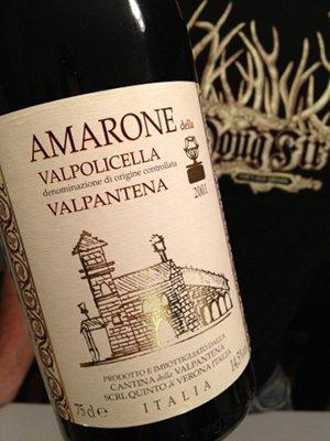 週末のおうちワインはアマローネ。独特のほろ苦さにはまります。