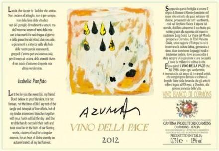 VINO DELLA PACE 2012・・・気になるラベルの紹介です。